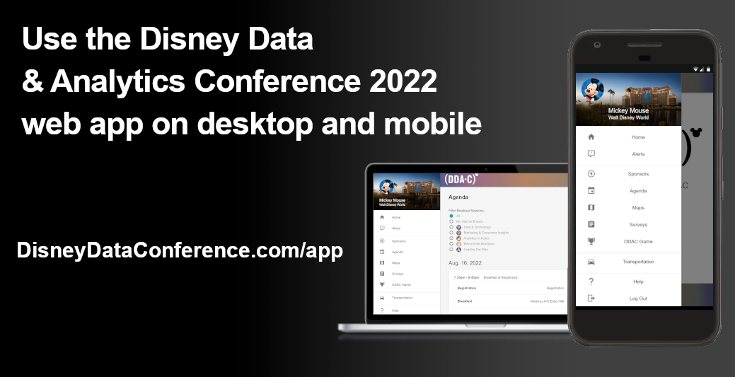 Use the DDAC 2018 App on Desktop and Mobile